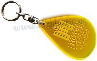 llavero personalizado para hoteles amarillo-portada
